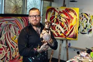Kunstenaar Bonny Dijkstra: 'Zonder kleuren zou ik naakt zijn'