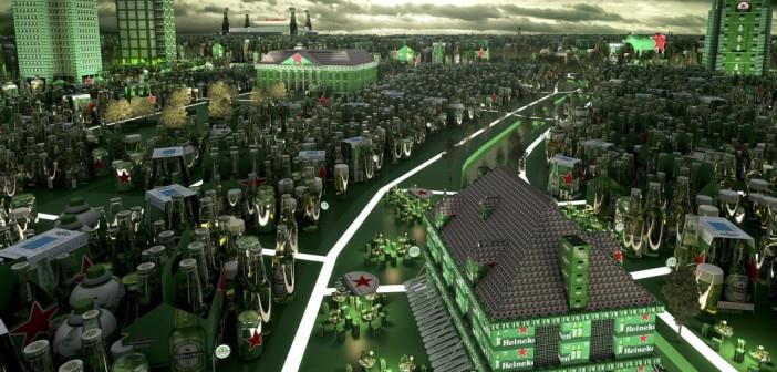 'Wereldstad' Leeuwarden op Heineken-poster