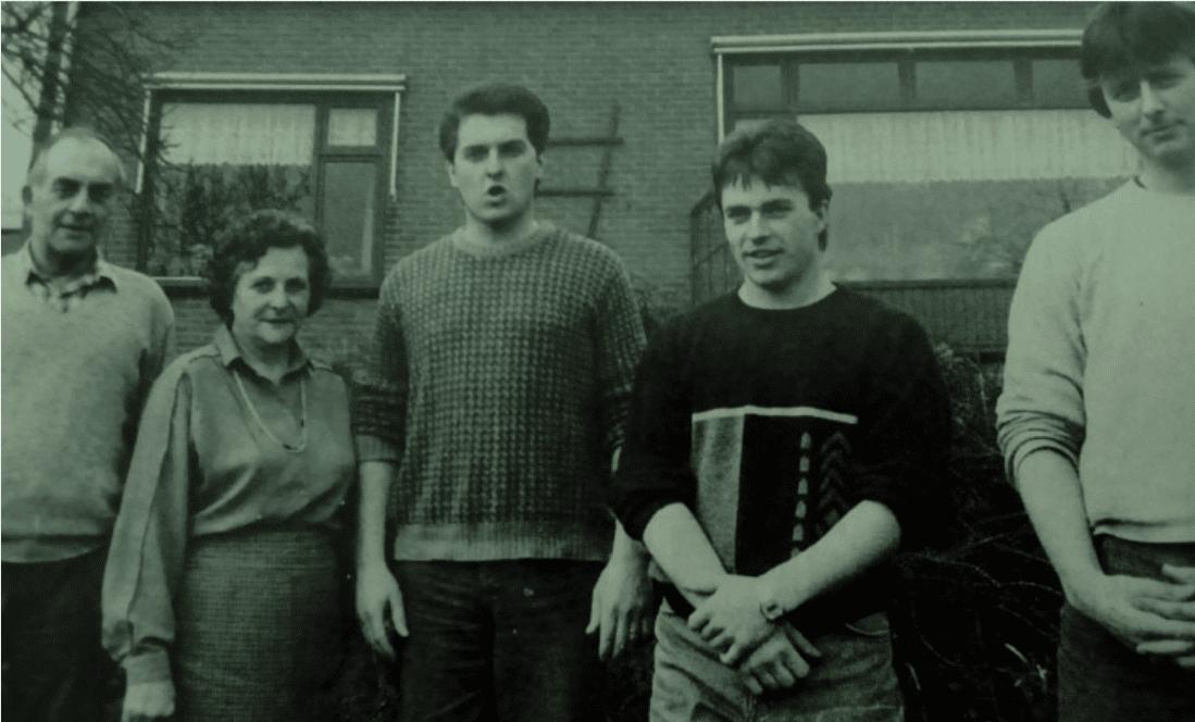 Theo, Gerard en Alfons Bles verhuisden naar Canada in 1986 vanwege melkquota