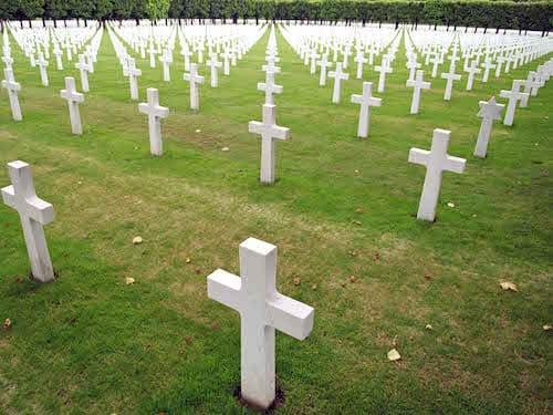 Gesneuveld op het slagveld van WO I