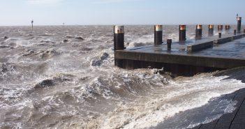 Een lezersfoto van de pier in Holwerd