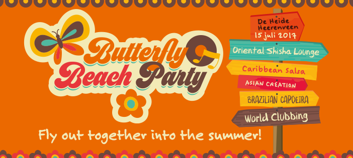 Butterfly Beach Party in Heerenveen