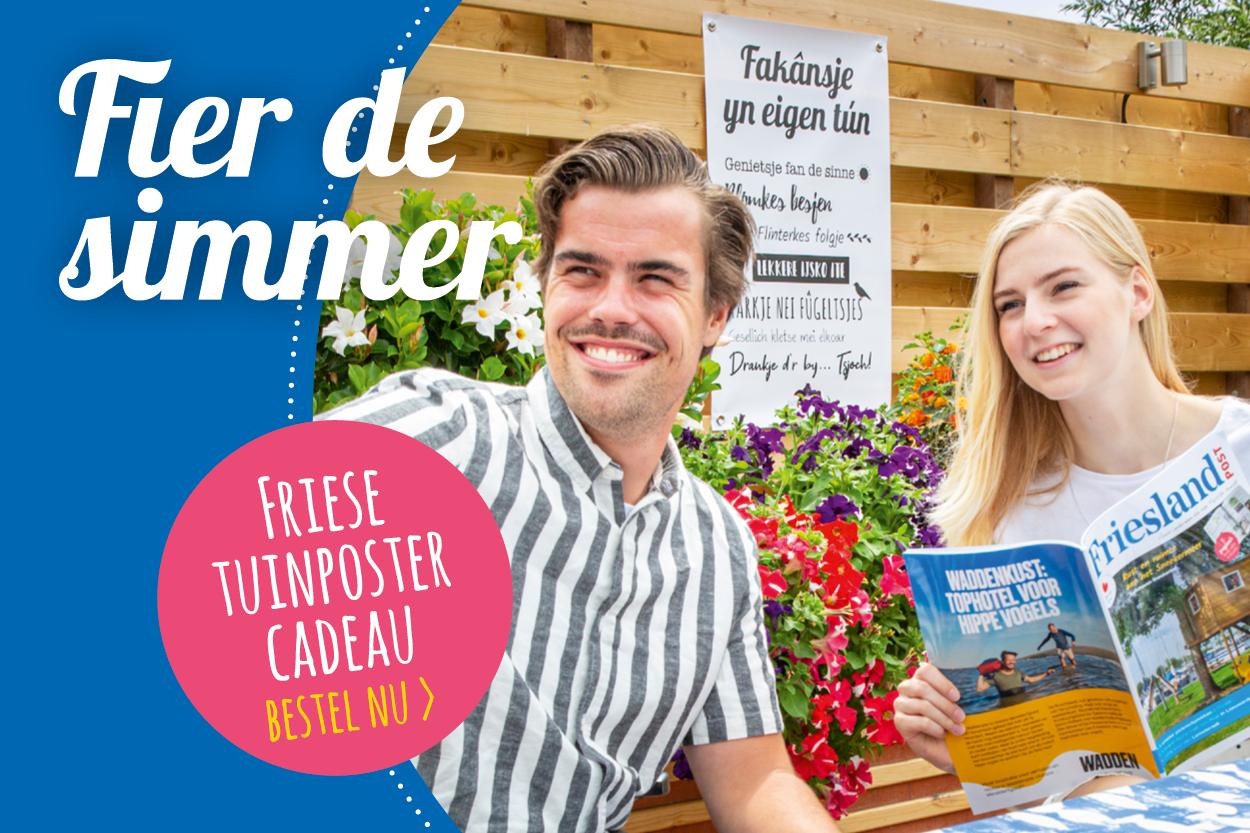 Friese tuinposter cadeau, bestel nu!