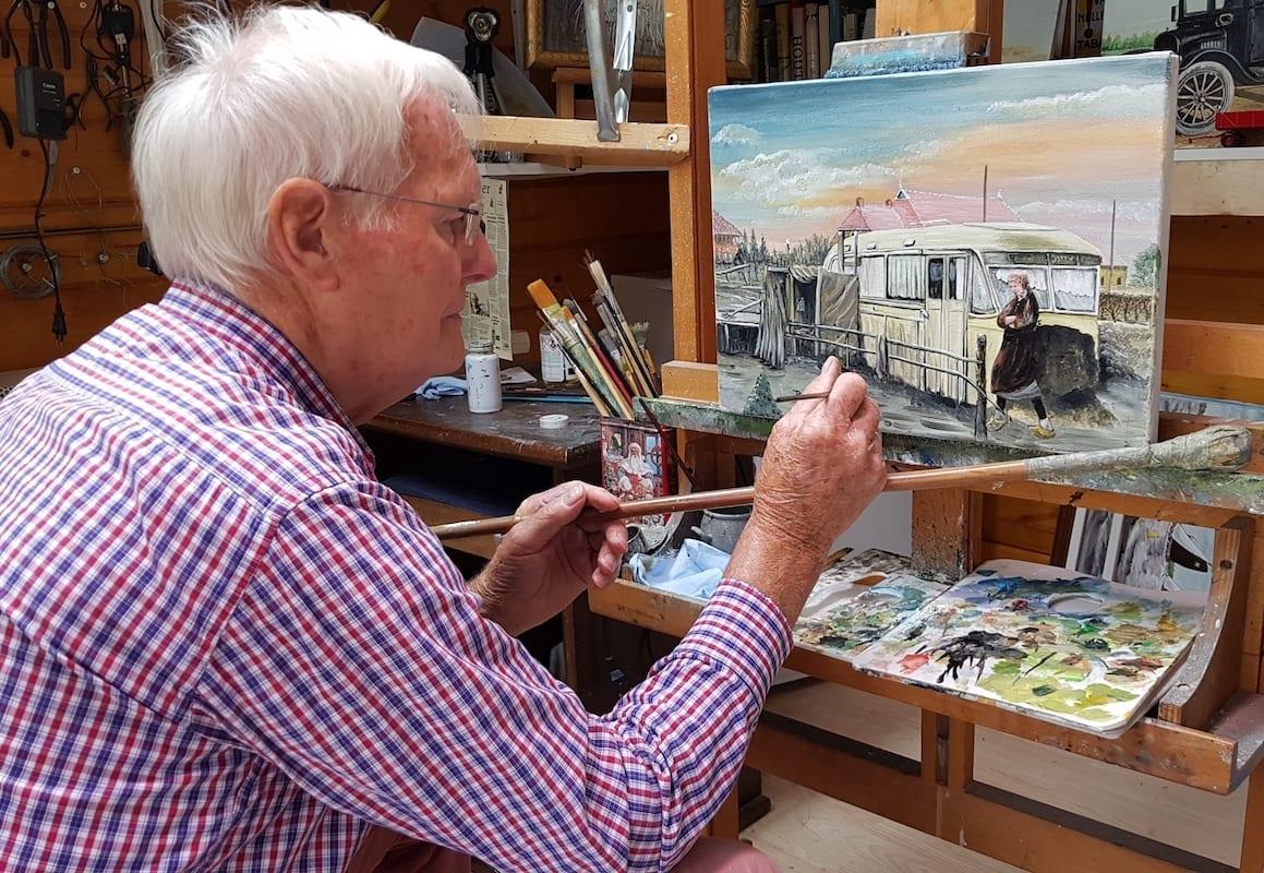 De oude meester schildert