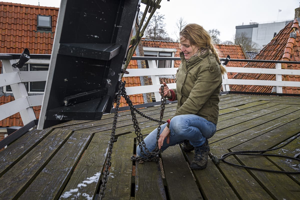 Tanja Kombrink is molenaar in Sloten
